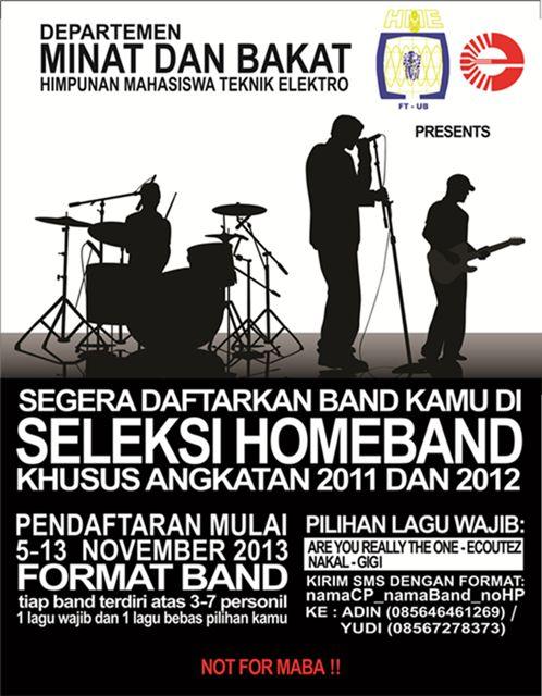 Seleksi Home Band Teknik Elektro 2013/2014