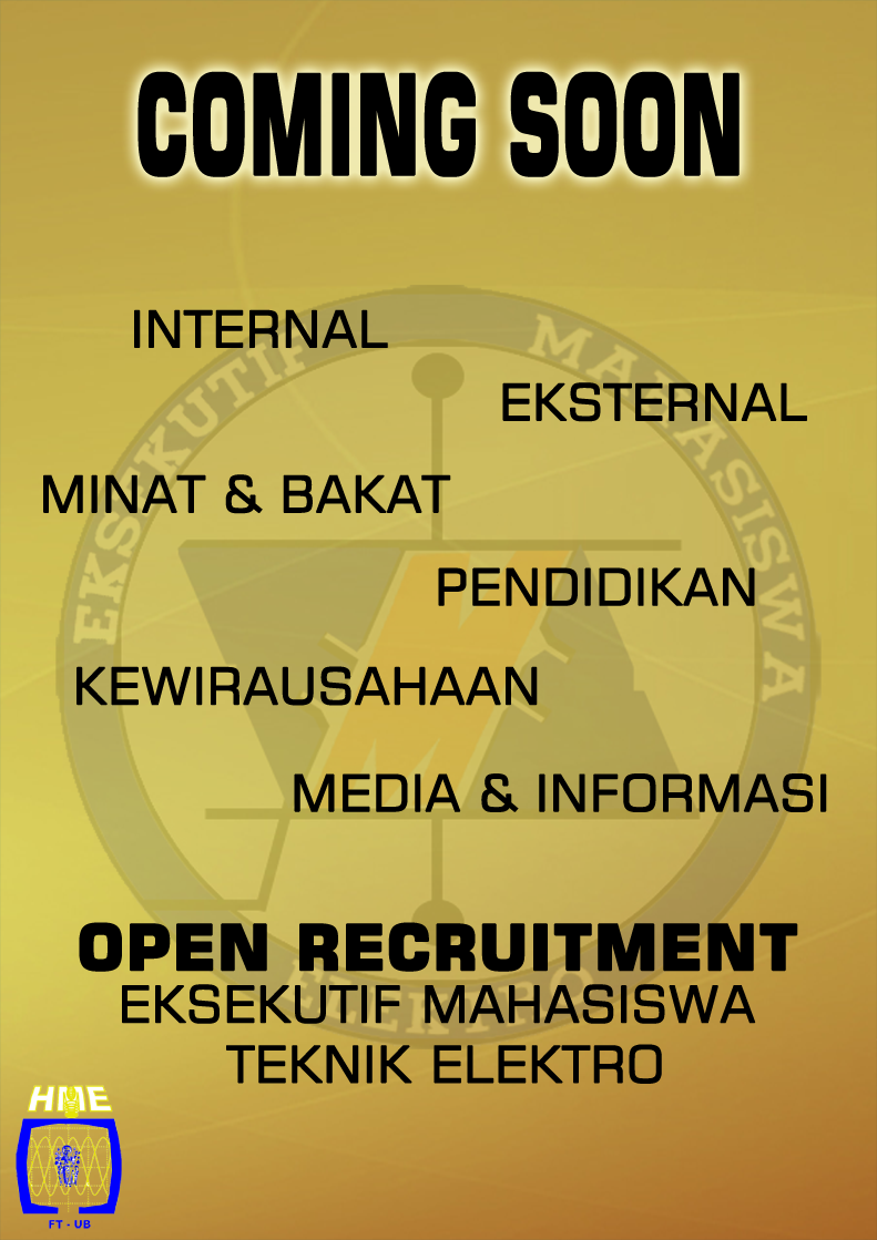 Coming Soon Open Recruitment EME 2014-2015