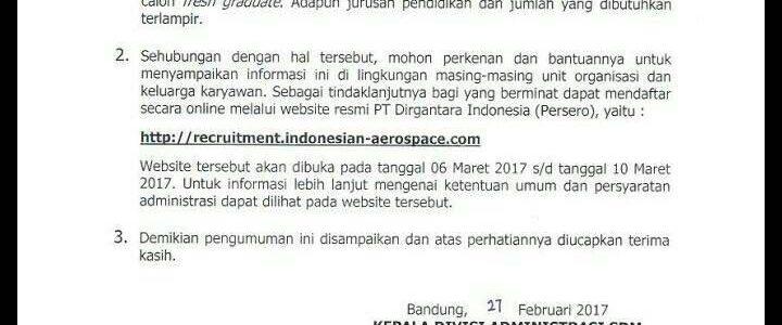 Loker PT Dirgantara Indonesia