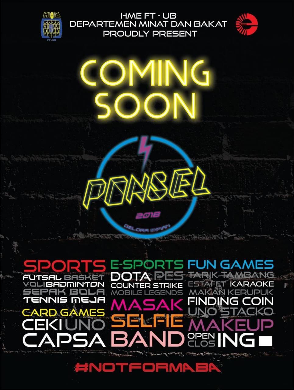 PONSEL 2018